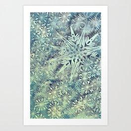 sea of flakes Art Print