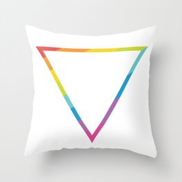 Pride: Rainbow Geometric Triangle Throw Pillow
