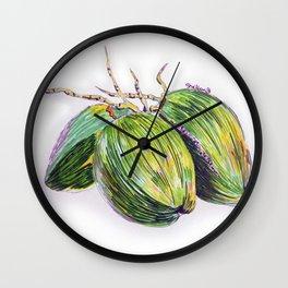 Island life coconut Wall Clock
