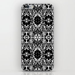 Zebra Butterfly Pattern iPhone Skin
