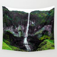 iceland Wall Tapestries featuring Trippy Iceland  by Lexi Colt