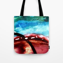 the earth is on fire Tote Bag