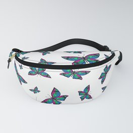 Fly With Pride: Polysexual Flag Butterfly Fanny Pack