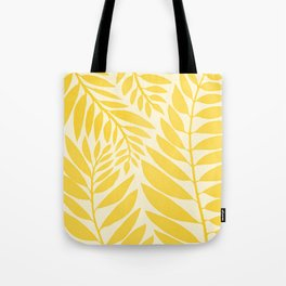 Golden Yellow Leaves Tote Bag