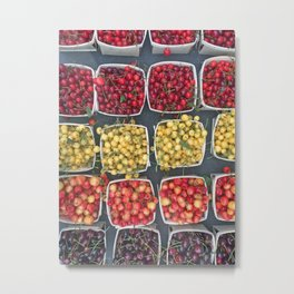 Cherries Union Square New York Metal Print