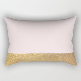 Color Blocked Gold & Rose Rectangular Pillow