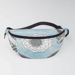 Ying and Yang Coi With Lotus Fanny Pack