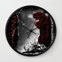 Red Elite - speed painting Wall Clock