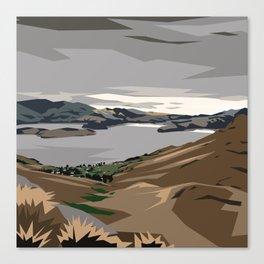 Cass Bay, New Zealand Canvas Print