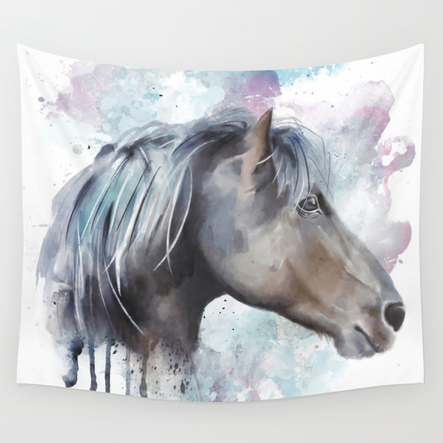 Watercolor Horse Head Wall Tapestry By Sketchwerx Society6