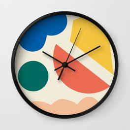 Floating lands Wall Clock