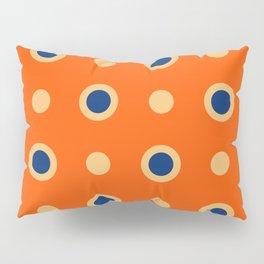 Polka Dot Pattern 241 Orange Blue Pillow Sham