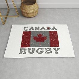 Canada Rugby Shirt for Men Women Kids Canadian Flag Rug