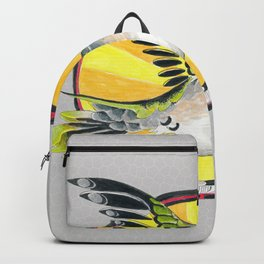 Hummingbird And The Sun Ink Doodle Backpack