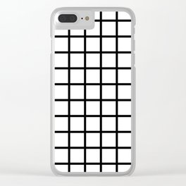 Classic White Grid Clear iPhone Case
