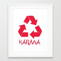 karma Framed Art Prints featuring KARMA by ARTITECTURE