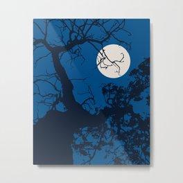 Moon Tree Sky Metal Print
