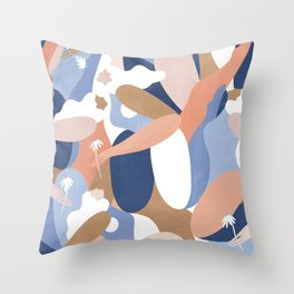 Depiction Of Self Love (blue) Throw Pillow