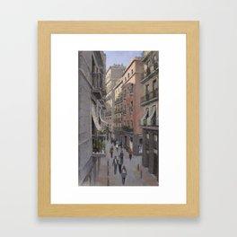 BARCELONA. BORN. CITY VIEW Framed Art Print