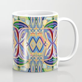 Butterfly mosaic - brightly colored pattern Coffee Mug