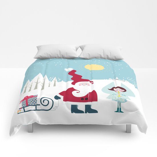 Santa and the little Angel Comforters