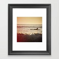 fin d'été Framed Art Print
