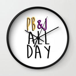 PB&J All Day 2.0 Wall Clock