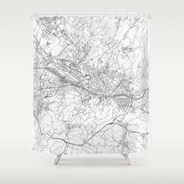 Florence Map Line Shower Curtain