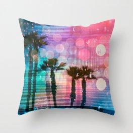 Palm Glitch ch. 07 Throw Pillow