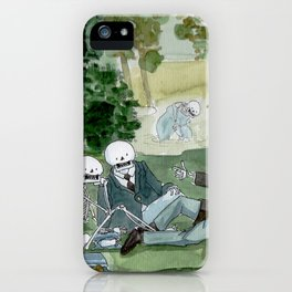 Luncheon on the grass - Manet - Skeleton version iPhone Case