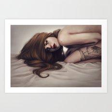 Death unfold me Art Print