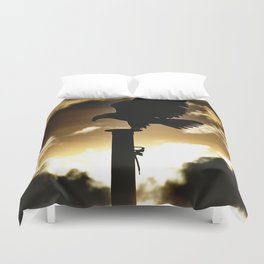 Golden Eagle Sunset Duvet Cover