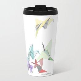 Crumpled Cranes Travel Mug