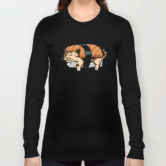 Neko Sushi Long Sleeve T-shirt