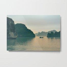 Cliffs Along the Water Metal Print