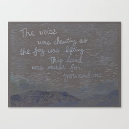 Words by Woody Guthrie Canvas Print