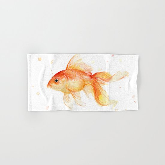 Goldfish Watercolor Fish Hand & Bath Towel