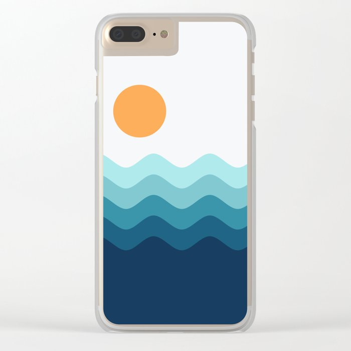 Abstract Landcape 14 Portrait Clear iPhone Case