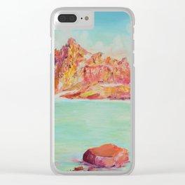 Broken Top Lake Clear iPhone Case