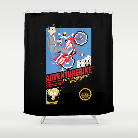 Adventurebike Shower Curtain