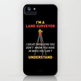 Land Survey GPS Land Surveyors Gifts iPhone Case