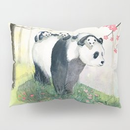 Panda family Pillow Sham