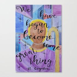 Some Great Thing Augustine Canvas Print