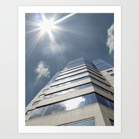 jewish Art Prints featuring Jewish Hospital  by Soul Gaze Photography, LLC