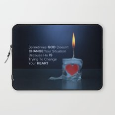 God Changes Hearts Laptop Sleeve
