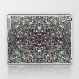 Sparkly colourful silver mosaic mandala Laptop & iPad Skin