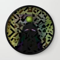 secret life Wall Clocks featuring The Secret Life of Arabia by Angelo Cerantola