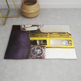 Yellow Bookcase Rug