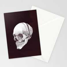 Human skull Stationery Cards