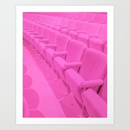 Pink Theater Seats in Palm Springs Art Print